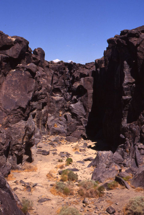 Fossil Falls, Little Lake Wind Project, Owens Valley ...